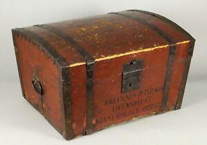 =Antique ea. 19th c. Scandinavian Trunk Valuables Box Minneapolis, MN w. History