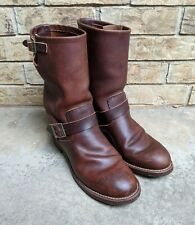 """Red Wing 2991 Engineer Brown Leather Amber Harness 11"""" Riding Boots Men's 11.5D"""
