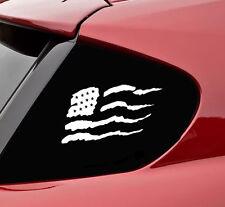 US tear flag USA vinyl decal sticker bumper united states america merica truck
