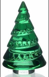 Baccarat Crystal Christmas Chamonix Green Fir Tree 2012 Harttung Mint n Box