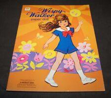 Vintage UNCUT Paper Dolls Book WISPY WALKER Whitman