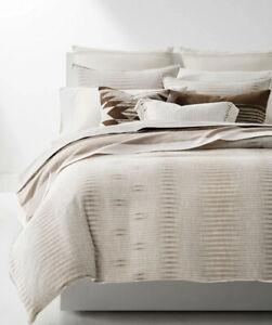 RALPH LAUREN Mason Geo Stripe 3-PC King Comforter + 2 Shams Set Cream $500