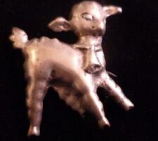 Lamb Brooch Pin Vintage Sterling Silver