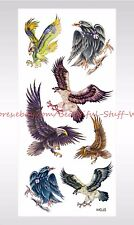 US SELLER-Halloween boys guys egale hawk temporary tattoo temporary art tattoos