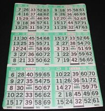 BINGO PAPER Cards 6 on 1 Green Cross plus pattern 50 sheets FREE SHIPPING