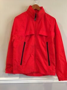 American Eagle AE Womens Full Zip Active Windbreaker Red Size Small $80