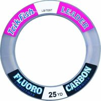 Trik Fish 25FLS02001 Fluorocarbon Leader Wrist Spool 20Lb 25Yds Clear