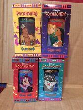 Vintage lot of 4 Pocahontas Disney Collector's Glasses Tumblers Burger king