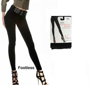 LADIES WOMEN WINTER WARMING THERMAL FLEECE LINED SOFT THICK FOOTLESS TIGHTS 8-16