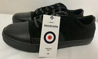 LAMBRETTA Black Felt Sneakers Pumps Shoes Trainers *SALE* RRP £50