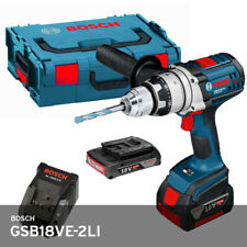 Bosch GSB18VE-2LI Professional Impact Drill 2x5.0Ah Charger LBox 6lb Keyless UPS