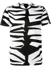 Burberry PRORSUM Runway Zebra Print T-shirt Size Medium 100% Authentic