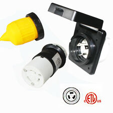 RV 30amp 125V Power Twist Lock Inlet Female Twist Locking Connector with Cover