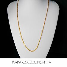 Gold Chain Men Womens 22 inch 18ct Gold Necklace 2mm thick Curb Chain  A2