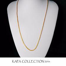 Cadena De Oro Plateado Hombre Mujer Indio Collar de Oro 2 mm de espesor Cadenilla A2