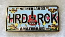 HARD ROCK CAFE AMSTERDAM LICENSE PLATE SERIES PIN # 83615