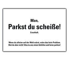 50 PARKST DU SCHEISSE Karten Falschparker  2fachParkplatzbenutzer