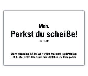 50 PARKST DU SCHEISSE Karten gegen Falschparker 2fachParkplatzbenutzer