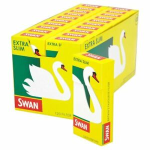 10 x Swan Extra Slim Cigarette Smoking Filter Tips(120 tips per pack) 5 ,10 ,20