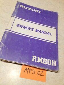 Manual Propietario Suzuki RM80H RM80 H RM 80 80RM Owner's Manual Éd. 82