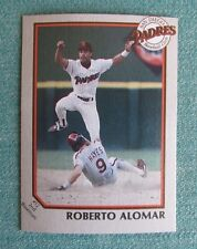 1990 COCA COLA CLASSIC 7 ELEVEN ROBERTO ALOMAR #12 PADRES RARE TEAM ISSUED CARD