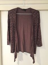 David Lawrence Ladies Brown Floral Cardigan Size 10 Good Condition