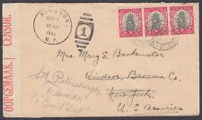South Africa to New York, USA redirect Petersburgh, Florida; Censor; 1941