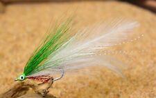 6ct - Lime Lefty's Deceiver Flies - Mustad Saltwater Duratin Hooks