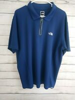 The North Face XL Men's Vapor Wick Blue Polo