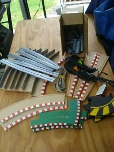 104 PIECE LOT SLOT TRACK & ACCESSORIES HORNBY SCX CARRERA SEE DETAILS