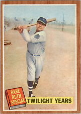 1962 Topps 141 Babe Ruth Special 7 Twilight Years NM #D325829