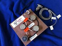 Prewired wiring Kit Fit Gibson Les Paul Long Shaft Pots Orange Drop Caps Switch