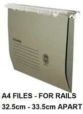 25 x A4 SUSPENSION FILES - GREEN - LINKABLE TABS & INSERTS - S24 G