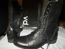 MEN'S  BLACK YD BOOTS SIZE 13 US LEATHER  LACE UP .NEW