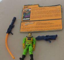 Vintage GI Joe 1991 Eco Warrior Flint w card, accessories