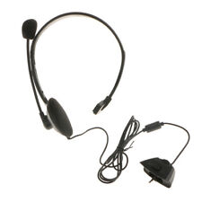 Wired Gaming Headset Chat Headphone w/ Mic Voice Control for Xbox 360 Black