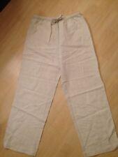 ETAM pantalon femme taille 40 beige ( en lin )