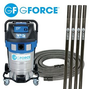 Gutter Vacuum  with 8 Carbon Fibre Poles and Accessories professional system