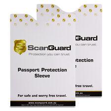 ScanGuard Passport RFID Blocking Sleeve - Twin Pack