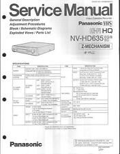 Panasonic original Service Manual para VHS video nv-HD 635