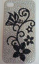 Diamonte Butterfly Plant Design Sticker NEW for Apple iPhone 4/4G/4S Phone Decal