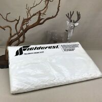 Fieldcrest White Eyelet Vintage King Flat French Country Shabby Chic Percale