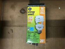 75 Watt spiral light bulb, GE electric