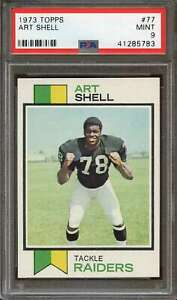 1973 TOPPS #77 ART SHELL HOF RC PSA 9 RAIDERS CENTERED SHARP!  *AK0114