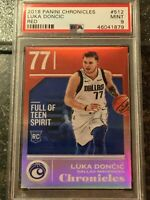 2018 Panini Chronicles Red #512 LUKA DONCIC  Rookie Basketball Card #/149 PSA 9