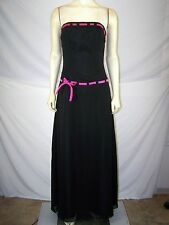 Forever Yours Black Pink Strapless Dress Womens Size Small Medium 6 8