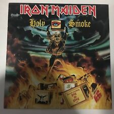 "IRON MAIDEN ""HOLY SMOKE"" RARE 12"" MADE IN ITALY 1990"