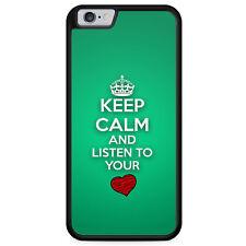 IPhone 6 6s, funda protectora de silicona, funda keep Calm and listas to Your Heart hechizo Cool C