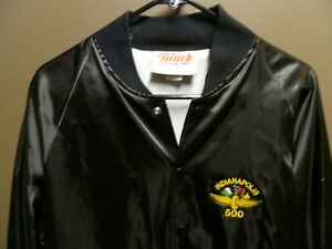 Vintage H. Wolf & Sons Nylon Snap Jacket w/INDIANAPOLIS 500 Patch Size 42/44