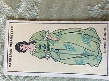 a1r trade card cigarette carreras ltd lorna doone